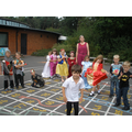 Mrs Shapland teaching Year 1 medieval games