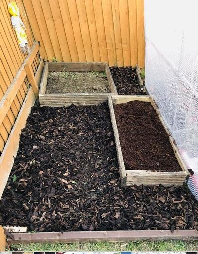 Beds ready for planting.