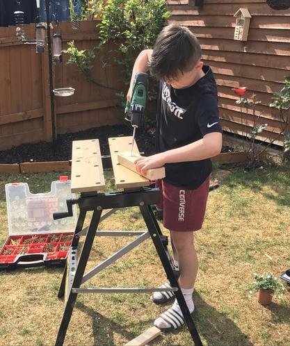 Bob is learning some DIY skills.