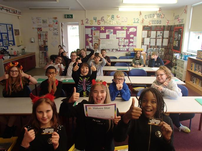 All of Maple Class received a care award for looking after each other so well this term!
