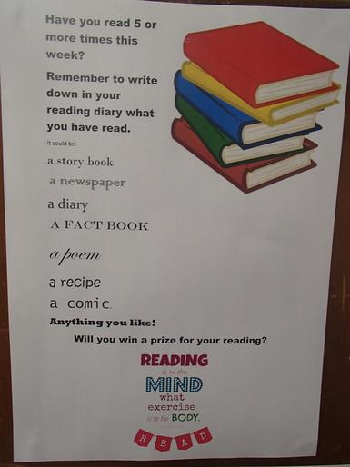 Our  challenge: to read 5 or more times a week!