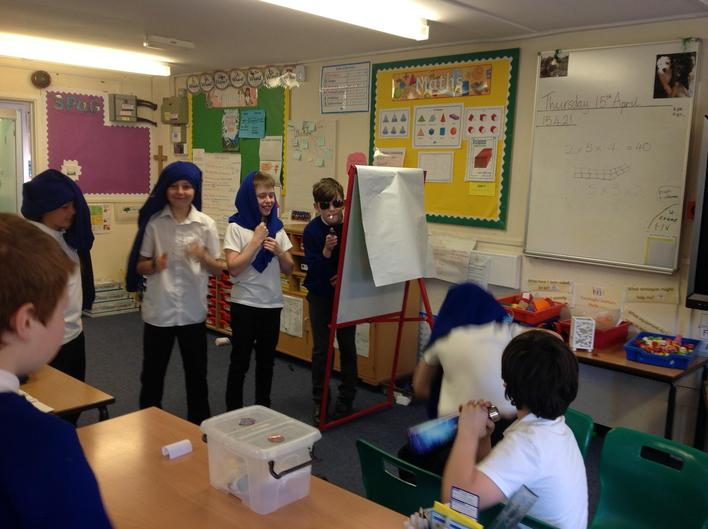 Through drama we explored the characters thoughts and feelings.