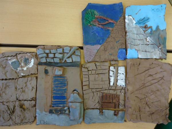Making our school in clay tiles