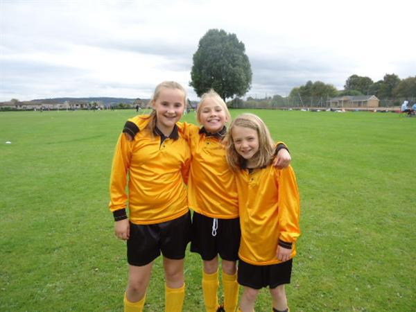 Loving playing football against other local school