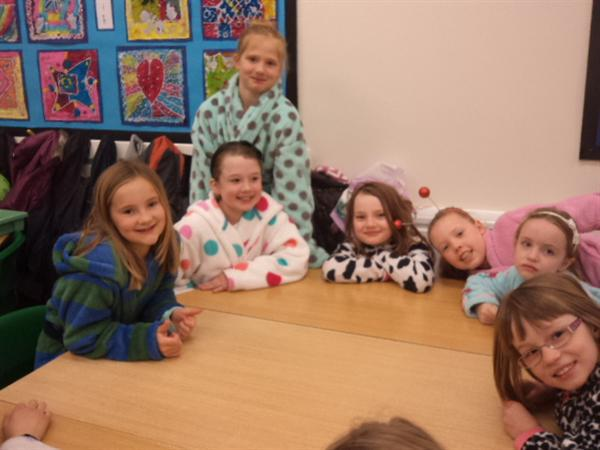 Wearing pyjamas to school on Red Nose Day