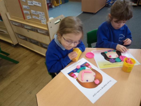 Decorating with playdough