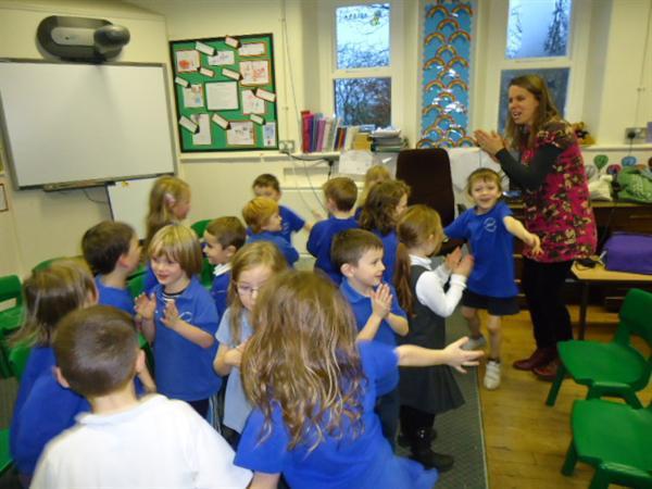 Infant children enjoying their singing workshops
