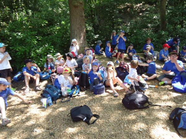 Enjoying our picnic at Chatsworth