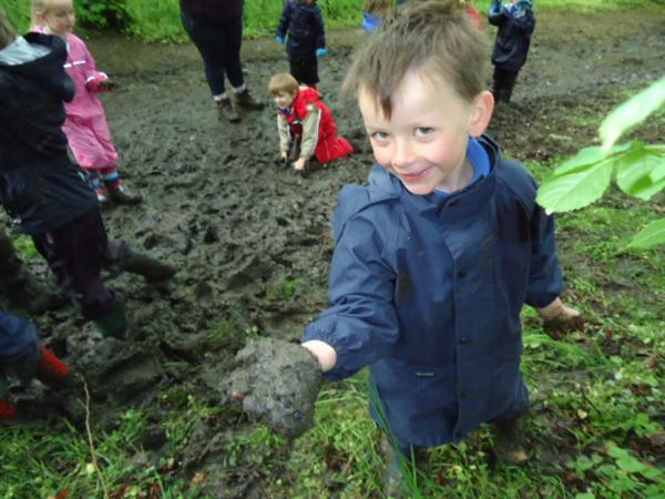 Look at my mud pie!