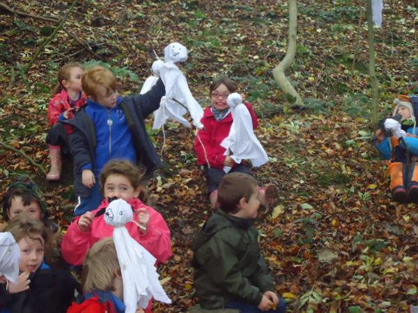 Ghosties in the woods!