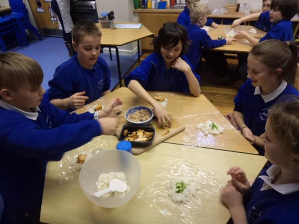 Experiencing new foods