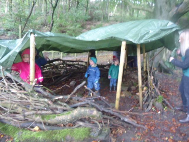 Exploring the big den.