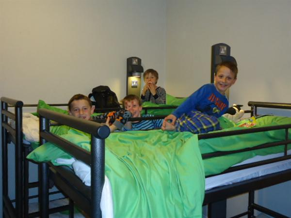 Excitement in the dorm at our residential