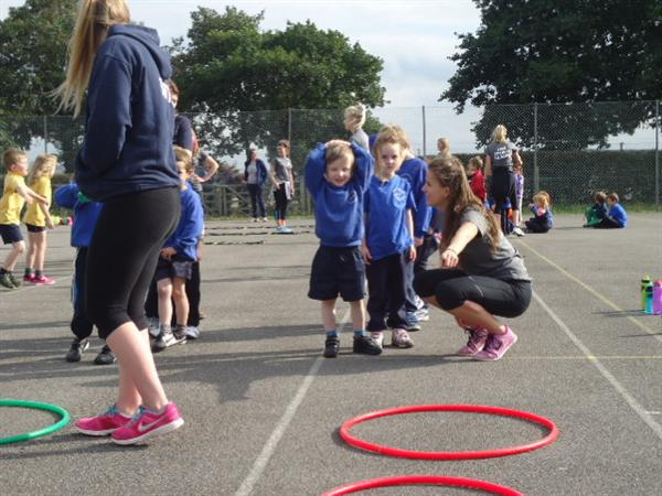 Infant sports festival at Lady Manners