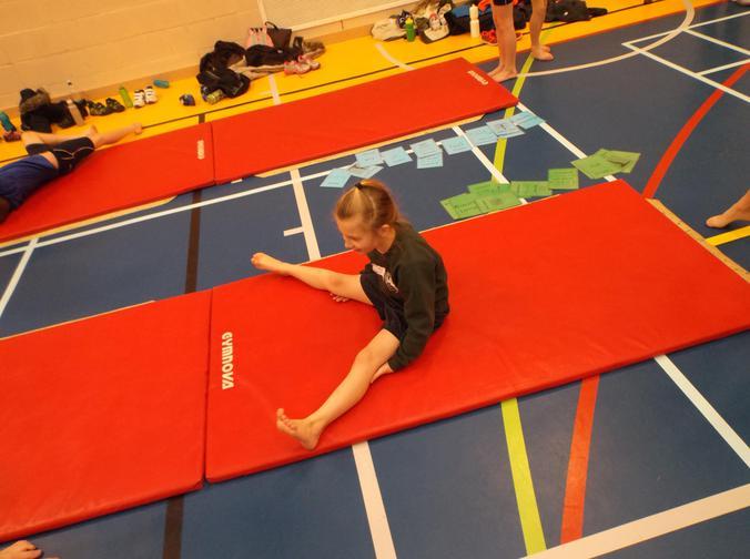 Attempting the splits