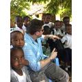 Mr Medcalf meeting children at Martinshamba