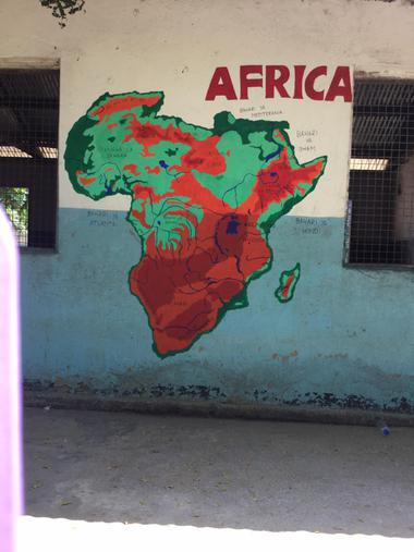 Completed map of Africa