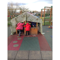 Den building in our outdoor area