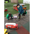 Mark making in the outdoor area