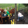 Busy baking mud pies