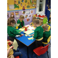 Busy making Easter crafts