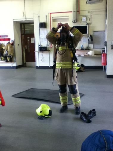 This is the breathing apparatus that they use.