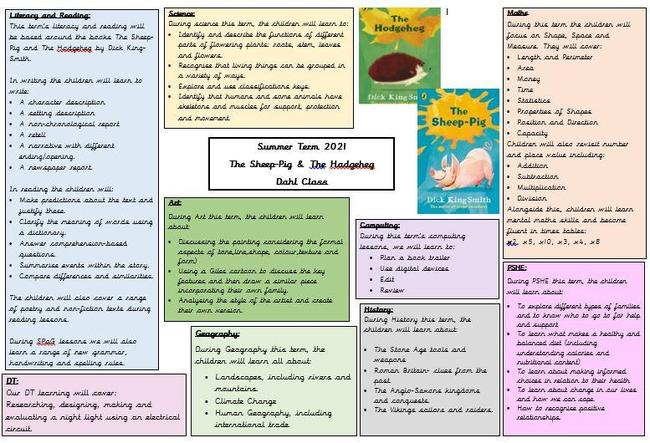 Here is an overview of Dahl's learning across the curriculum this summer.