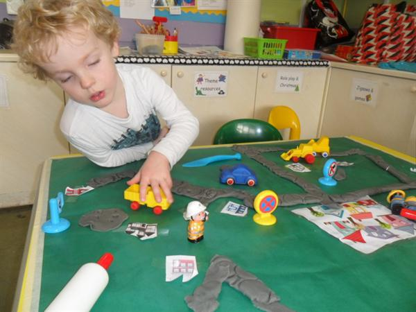building playdough roads