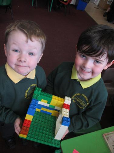 """We worked together to build the giant's castle!"""