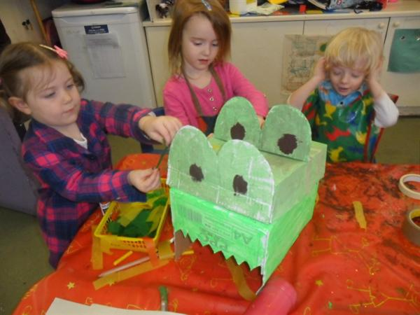 decorating our dancing dragon