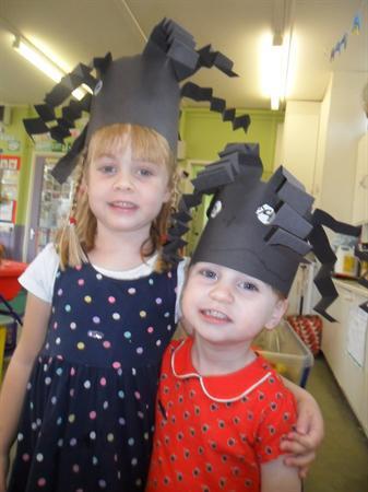Black spider hats