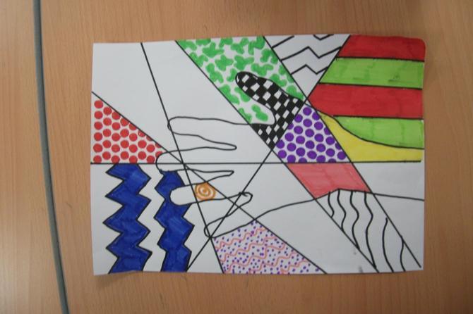 Pop art inspired work.