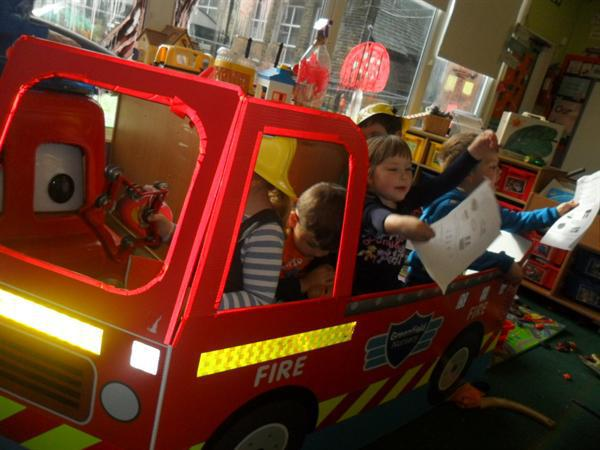 Writing in our fire engine