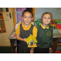 Class 4 having fun with their long houses