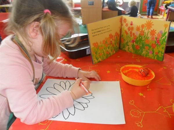 Fine motor development with paint