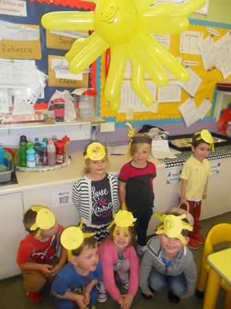 Smiley sunshine hats