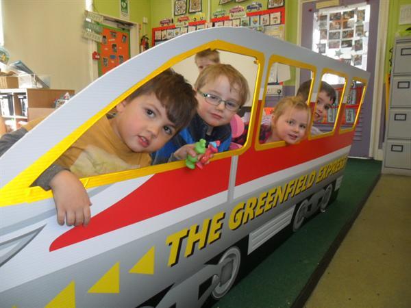 All aboard the train