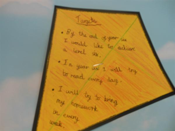 One of the goals set by a Year 6 pupil