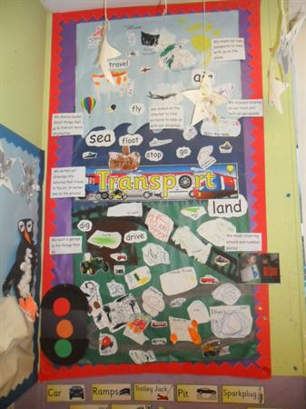 Transport learning wall