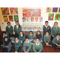 Children from Years 5 & 6 at the Art Exhibition.