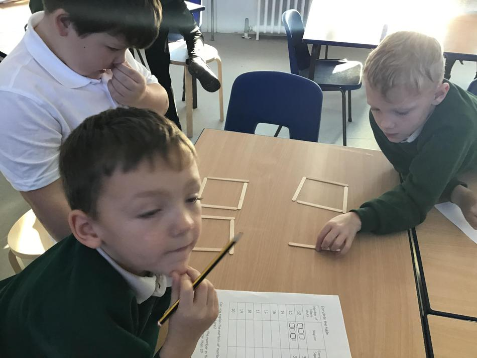 We did a division investigation with lolly sticks!