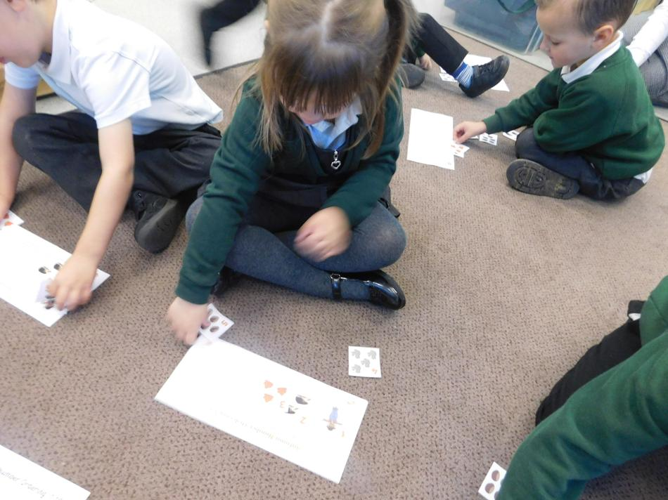 Starla correctly ordered numbers 1-5.