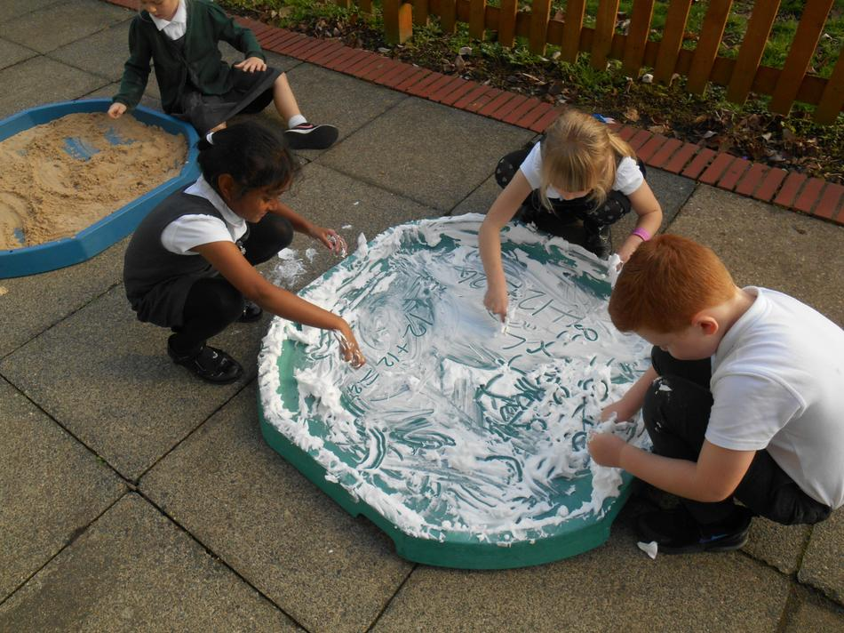 Shaving foam numbers!