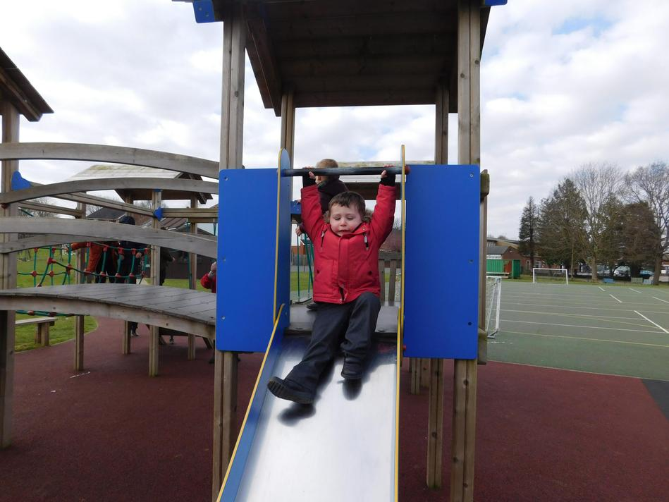 Lovely to be out on the large play equipment
