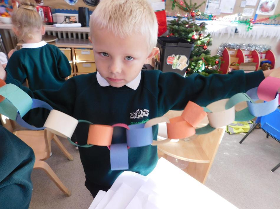 Luke's paper chain.