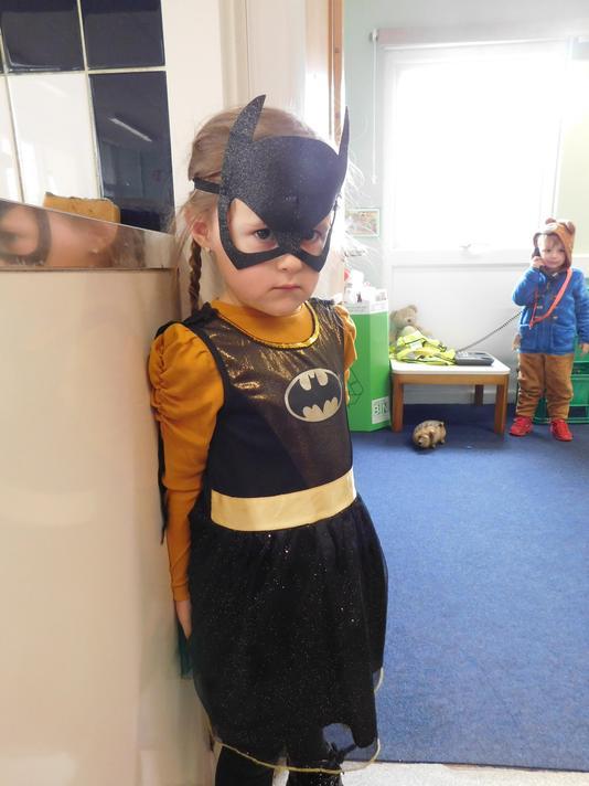 Fab Bat Girl costume Jasmine.