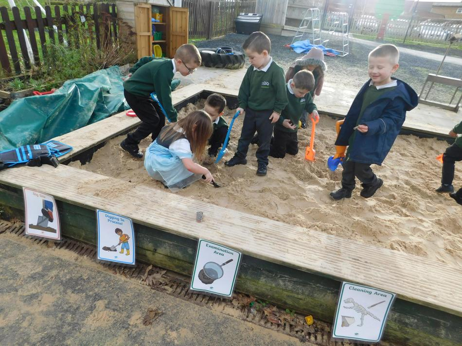 Our Dino dig.