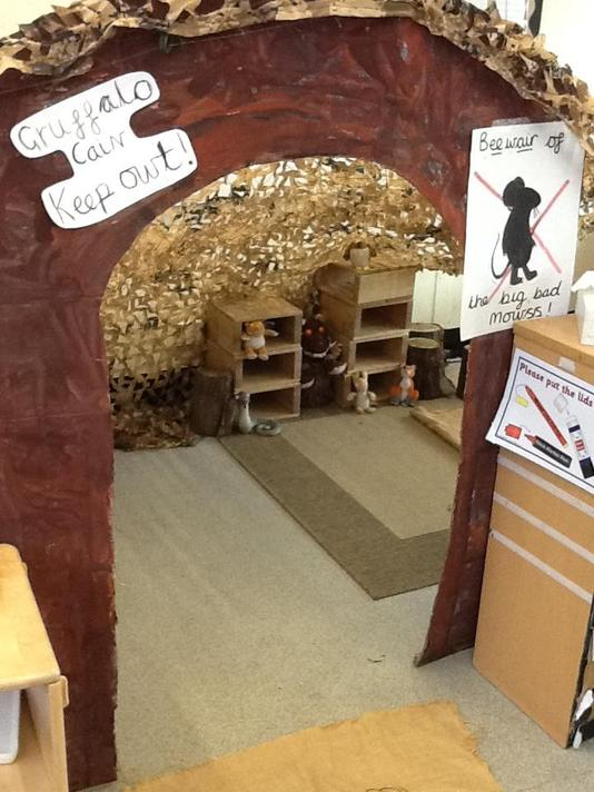 The Gruffalo's Cave has appeared in our classroom!