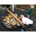 Thomas and his friends built a bug hotel.