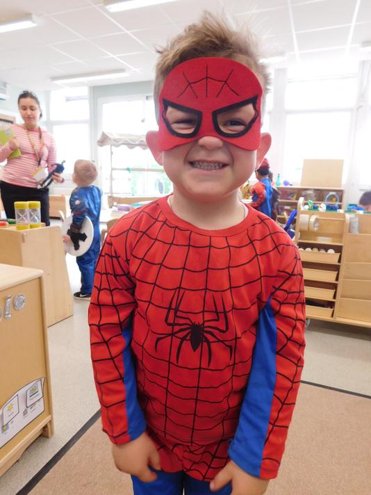 Love the spidy disguise George.